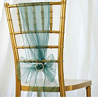 Organza Chair Sash Hunter Green