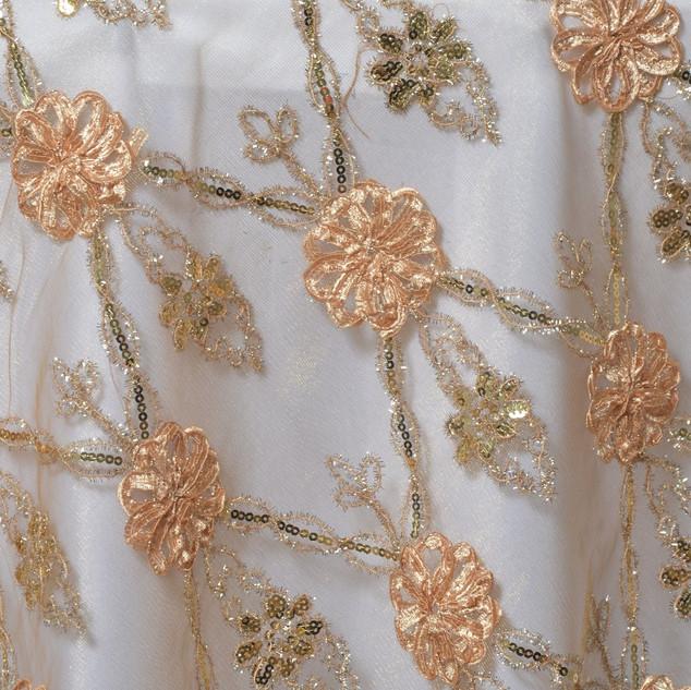 "72"" Extravagant Fashionista Lace Netting Gold"