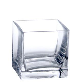Votive Holder Clear Square Glass