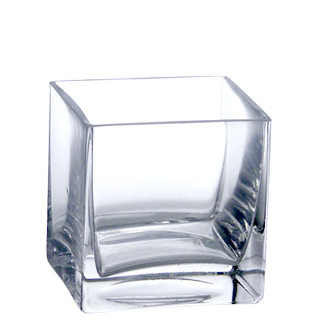 Votive Holder Clear Square Glass