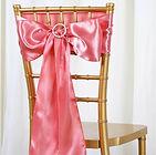 Satin Chair Sash Rose Quartz