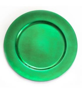 """Acrylic Emerald Green Charger Plate 13"""""""