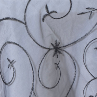 Organza Embroidered Runner Black