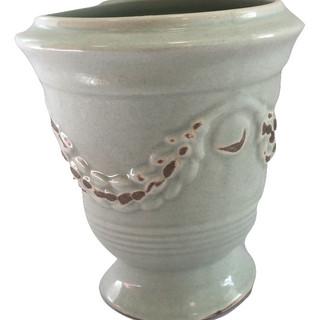 Green Earthenware Accent Vase