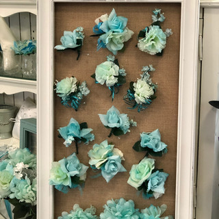 Soft Turquoise Bridal Party Boutonniere Set