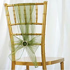 Organza Chair Sash Willow Green