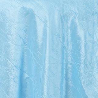 """72"""" Taffeta Crinkle Overlay Light Blue"""