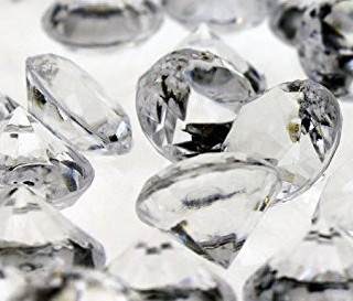 "Bulk Acrylic Diamonds 0.5"" Clear 10,000"