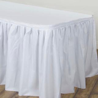 Polyester Table Skirt White