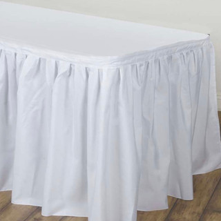 Polyester Table Skirt White