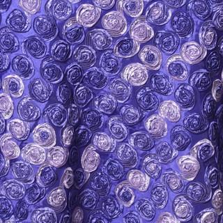 """72"""" Triple-Tone Mini Rosettes Purple Umbre"""