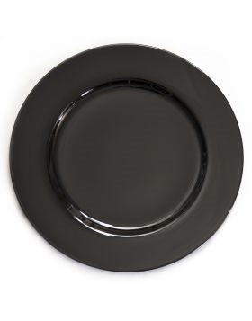 """Acrylic Black Charger Plate 13"""""""
