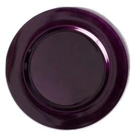 "Acrylic Eggplant Charger Plate 13"""