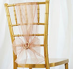 Organza Chair Sash Mauve