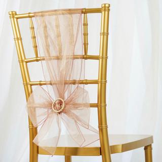 Organza Chair Sash Mauve