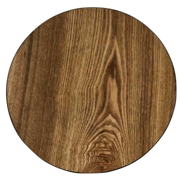 Faux Wood Light Acrylic Charger Plate 13""