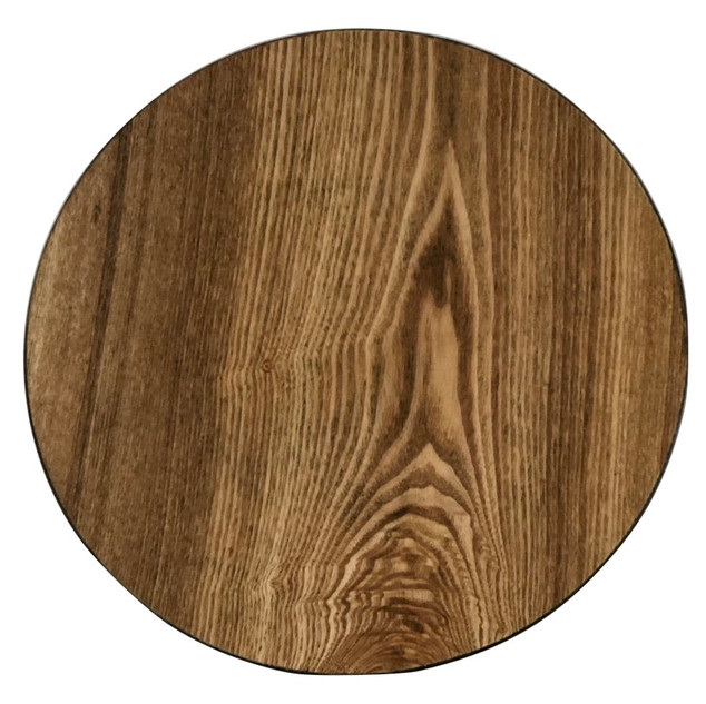 """Faux Wood Light Acrylic Charger Plate 13"""""""