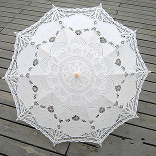 Vintage Lace Parasol White