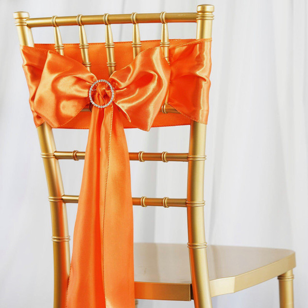 Satin Chair Sash Orange