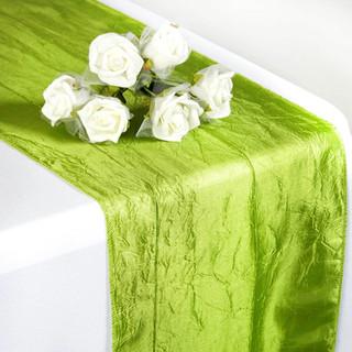 Taffeta Crinkle Runner Sage Green