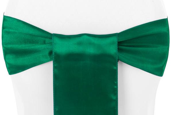 Satin Sash Emerald Green