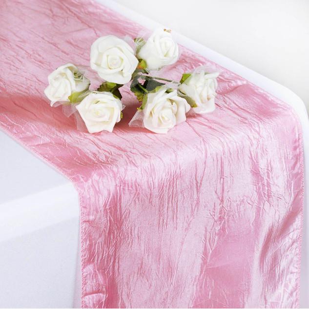 Taffeta Crinkle Runner Pink