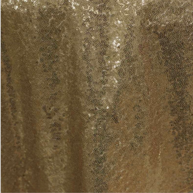 """72"""" Sequin Square Overlay Champagne"""