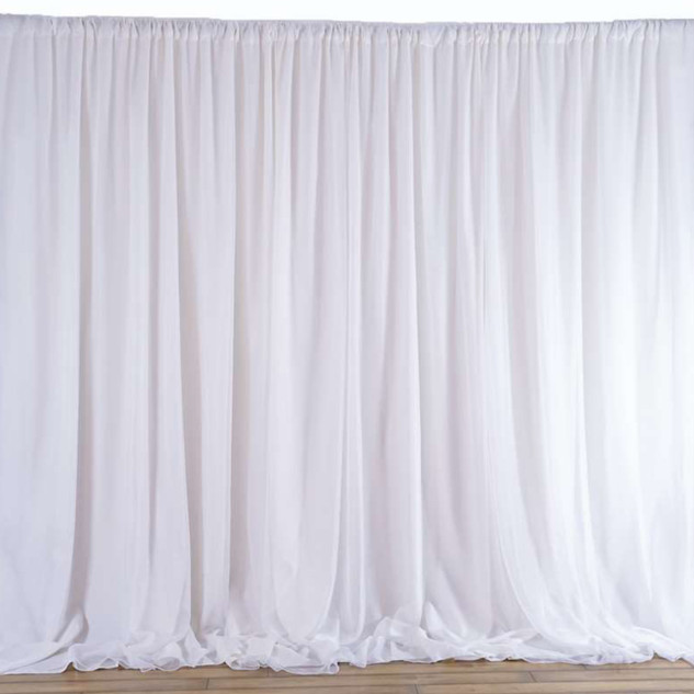 10x20 Chic Inspired Backdrop Curtain White