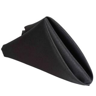 Polyester Napkin Black