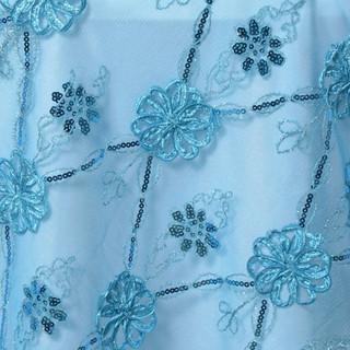 """72"""" Extravagant Fashionista Lace Netting Turquoise"""