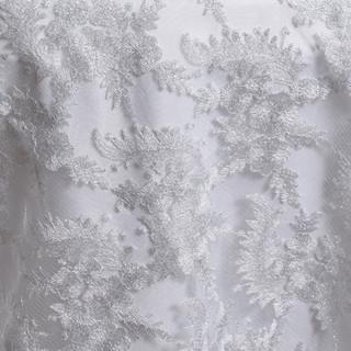 "72"" Fairy Dust Overlay White & Silver"
