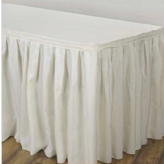 Polyester Table Skirt Ivory 17'