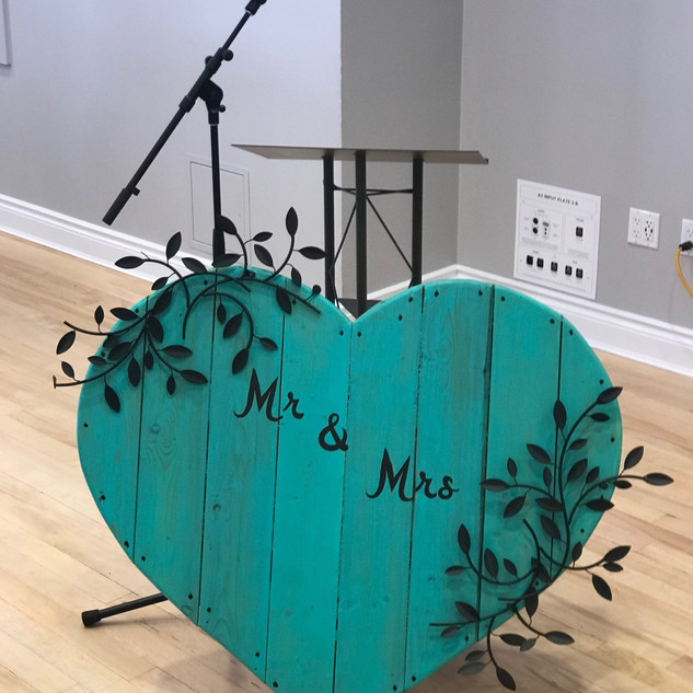 """Mr & Mrs"" Sign Extra Large Turquoise"