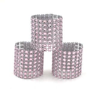 Napkin & Bow Rhinestone Embellishment Light Pink