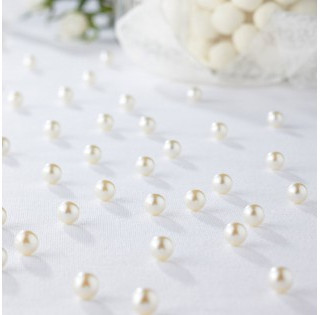 Bulk Table Pearls White 1500 pcs