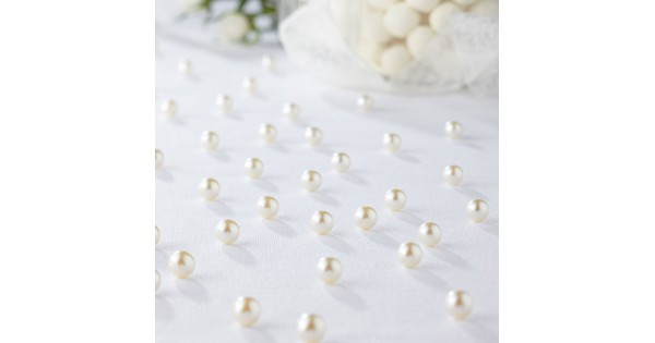 Bulk Table Pearls White 1500 pcs
