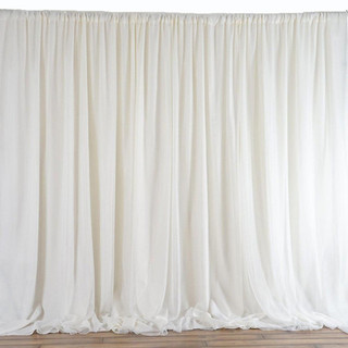 10x20 Chic Inspired Backdrop Curtain Ivory