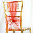 Organza Chair Sash Burnt Orange