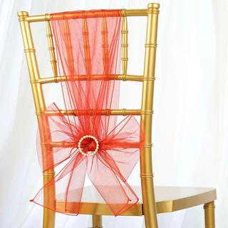 Organza Chair Sash Burnt Orange