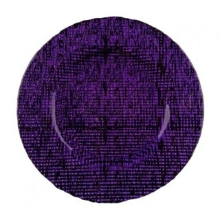 Weave Purple Glass Charger Plate 13""