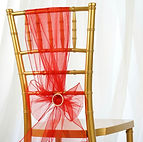 Organza Chair Sash Red