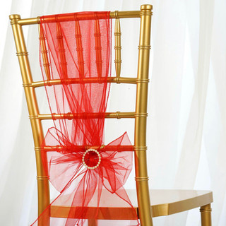 Organza Chair Sash Red