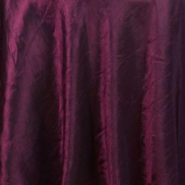 "72"" Taffeta Crinkle Overlay Burgundy"
