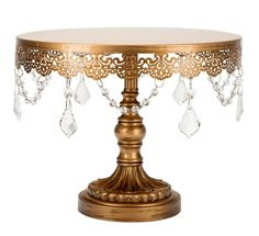 """Cake Stand Vintage Gold 9"""" x 11"""""""