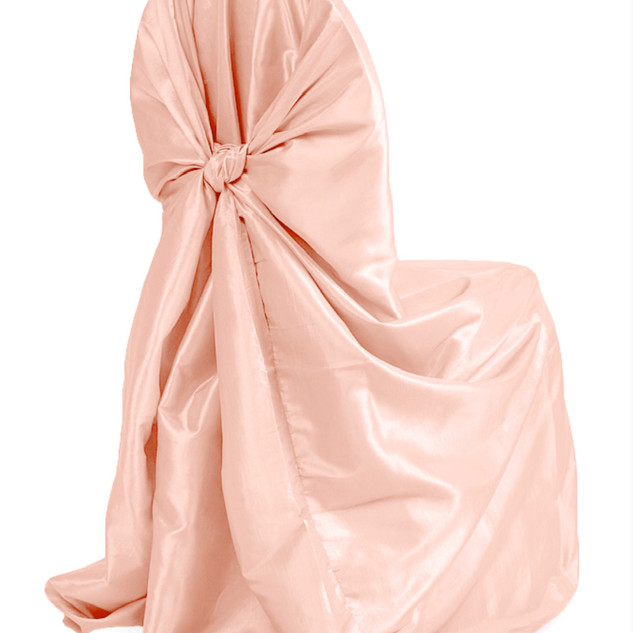 Satin Universal Chair Cover Blush