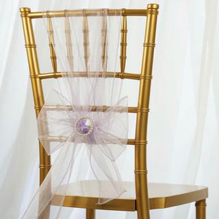 Organza Chair Sash Lavender