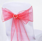Organza Chair Sash Coral
