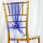 Organza Chair Sash Royal Blue