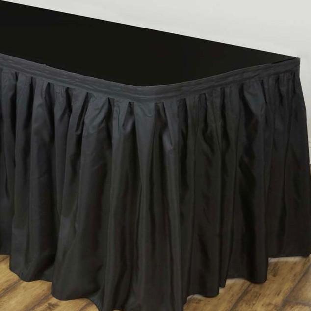 Polyester Table Skirt Black 17'