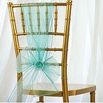 Organza Chair Sash Turquoise